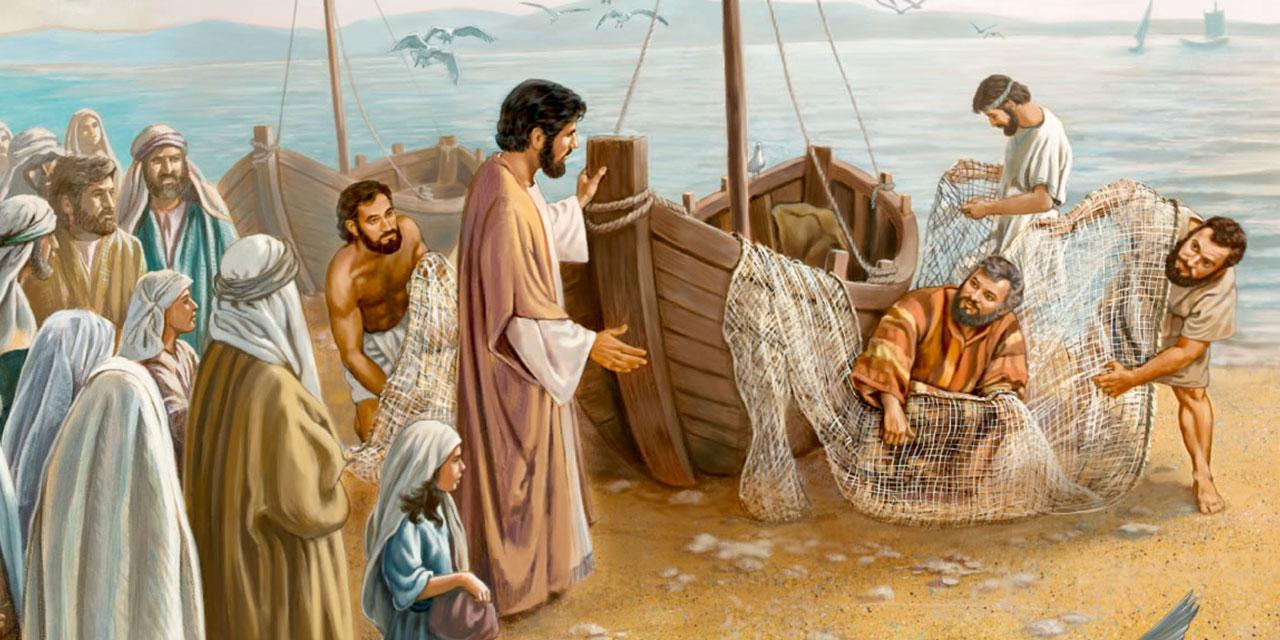 Иисус Христос призывает учеников