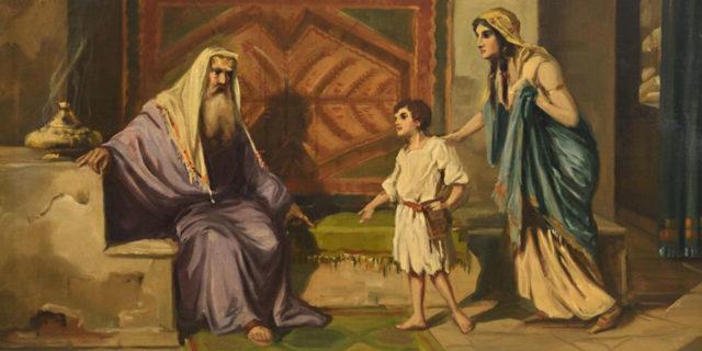 Анна приводит Самуила пророка к Илье ветхий завет библия