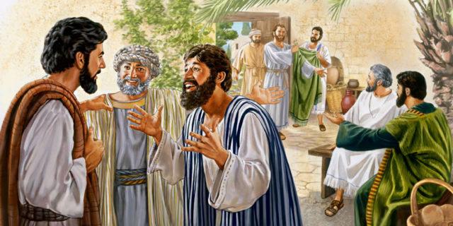 Апостолы собираются вокруг своего учителя Иисуса Христа евангелие новый завет библия