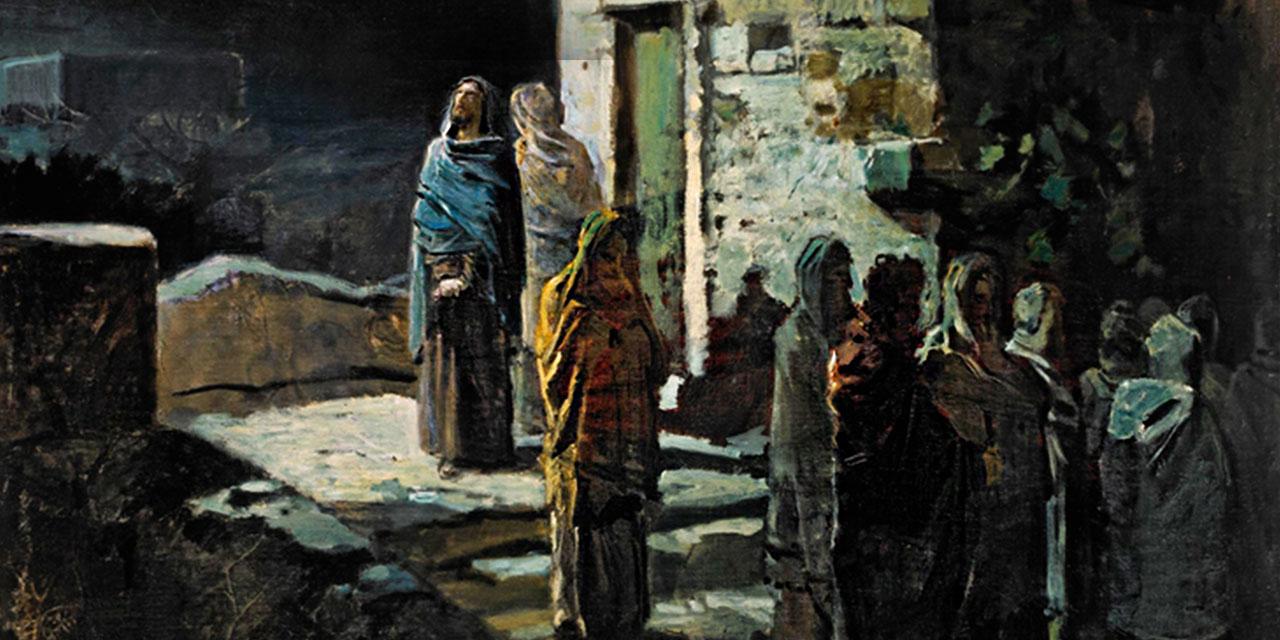 Беседа Иисуса Христа с учениками по дороге в гефсиманский сад