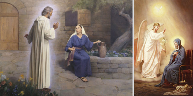 Благовещание или архангел Гавриилвозвещвет деве Марии о зачатии от Святого Духа