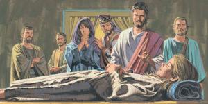 Иаир просит Иисуса Христа исцелить свою дочь