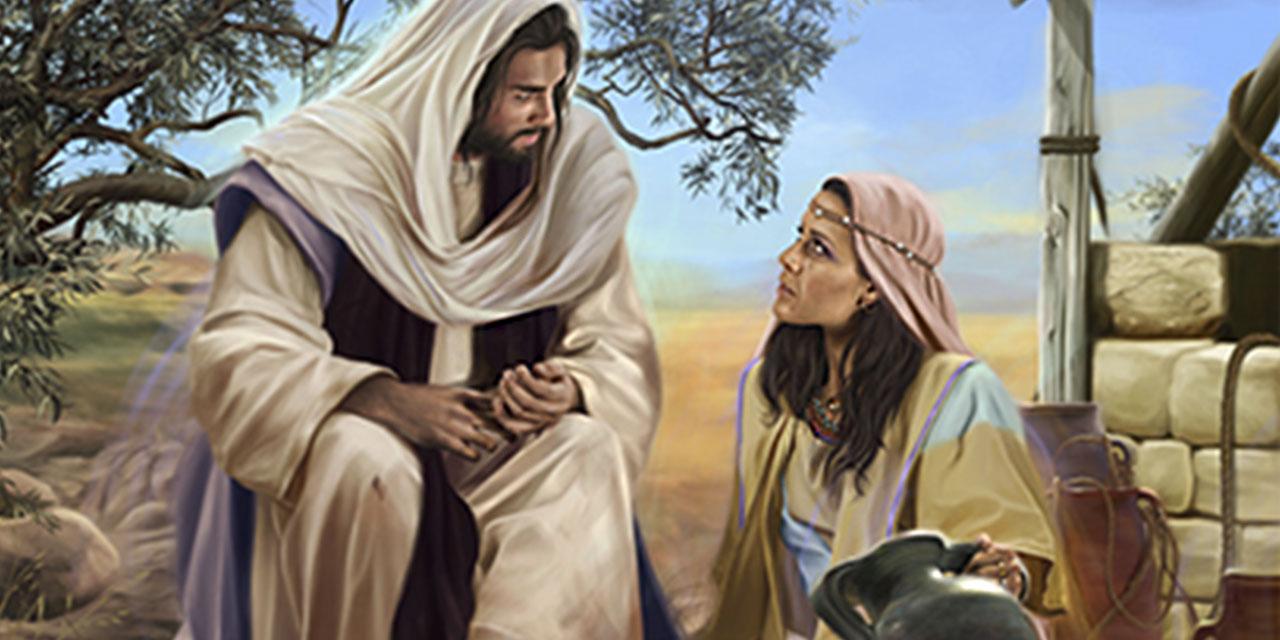 Иисус Христос беседует с самарянкой у колодца евангелие новый завет библия