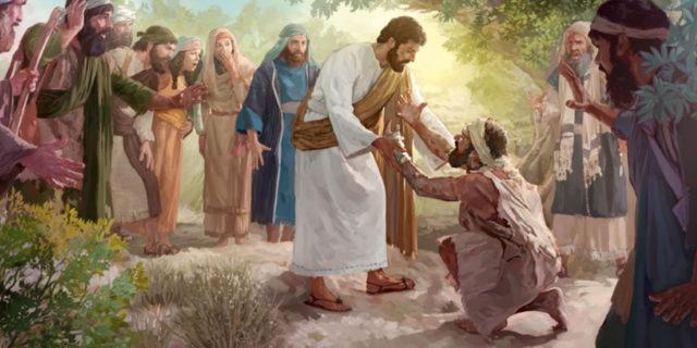 Иисус Христос исцеляет прокажённого