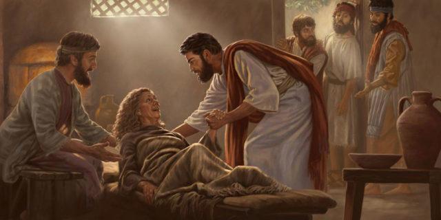 Иисус Христос исцеляет тёщу Симона Петра