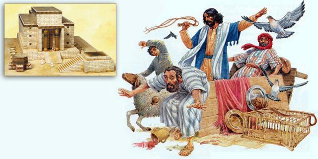 Иисус Христос изгоняет торгашей из Храма Соломона