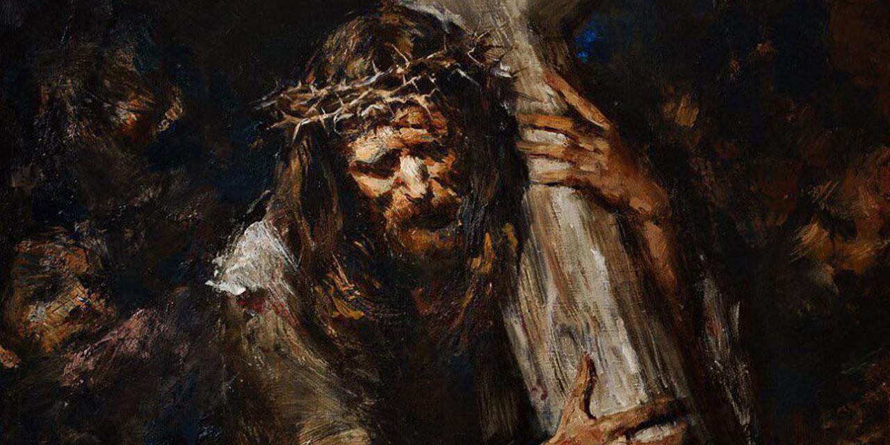 Иисус Христос несёт свой крест