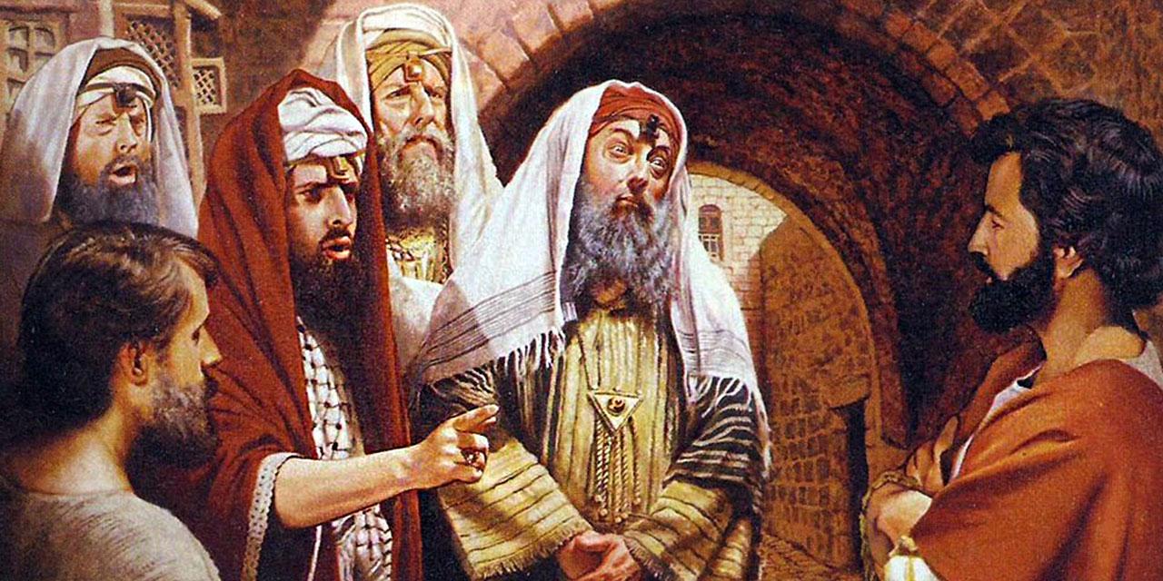 Иисус Христос отвечает фарисеям на обвинение в равенстве с Богом евангелие новый завет библия 2
