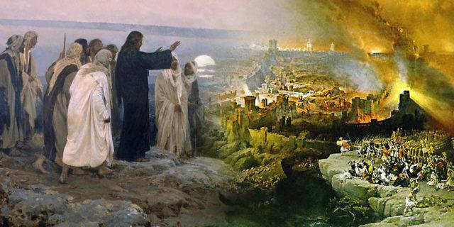 Иисус Христос пророчествует о разрушении храма и втором пришествии в последние времена