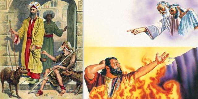 Иисус Христос рассказывает притчу о богаче и нищим Лазаре