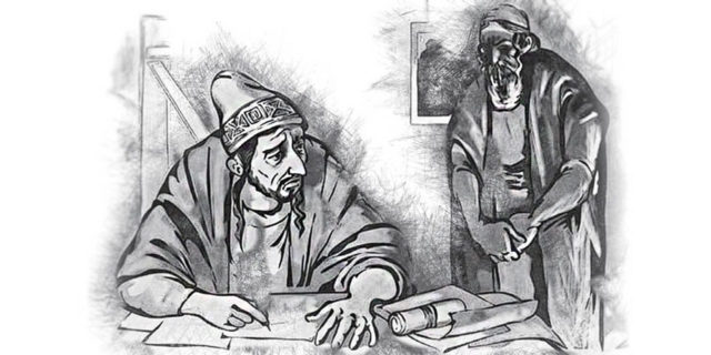 Иисус Христос рассказывает притчу о неверном управителе