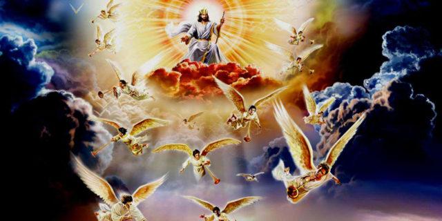 Иисус Христос сидит одесную силы и грядёт на облаках небесных 1