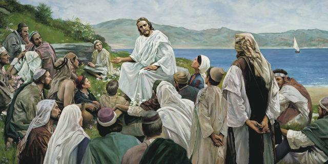 Иисус Христос учит народ у моря притчами евангелие новый завет библия