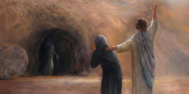 Иисус Христос воскрешает Лазаря евангелие новый завет библия 1