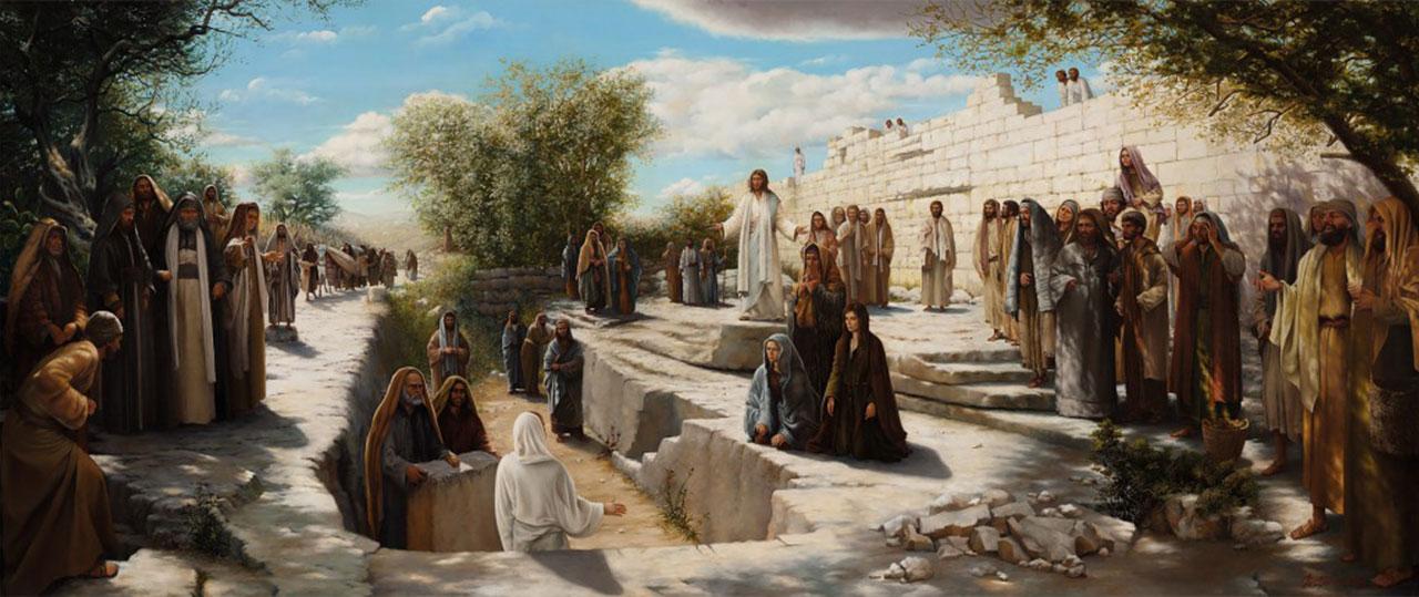 Иисус Христос воскрешает Лазаря евангелие новый завет библия 3