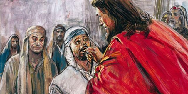 Иисус Христос исцеляет глухого косноязычного