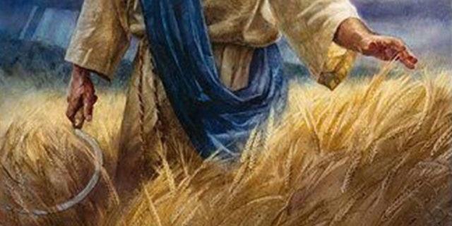 Иисус посылает серп для жатвы господней