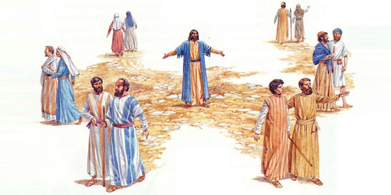 Иисус Христос посылает учеников на проповедь