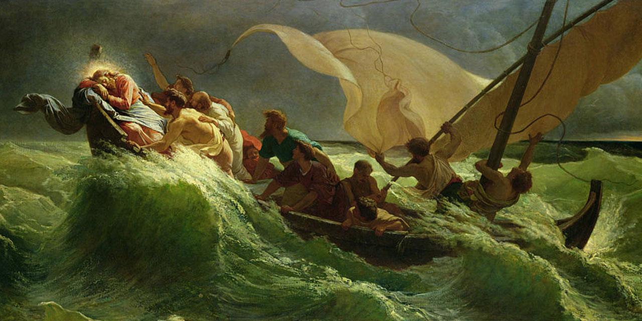Иисус Христос повелевает ветру и морю