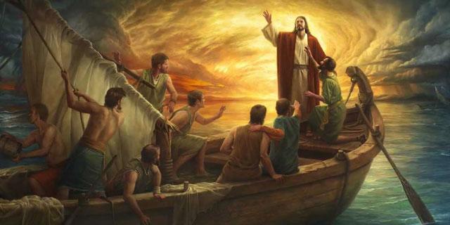 Иисус Христос укрощает бурю