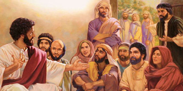 Иисус Христос в доме с родственниками
