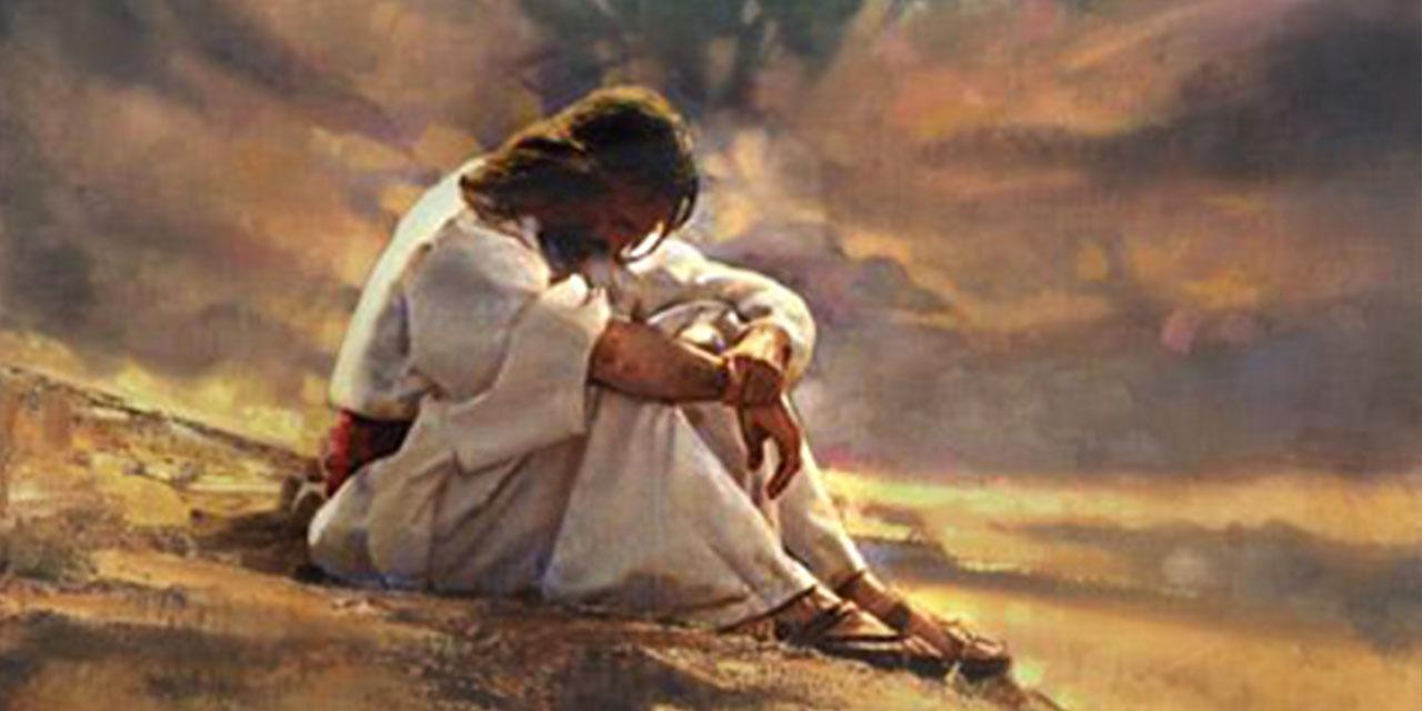 Иисус Христос в пустыне для искушения от дьявола