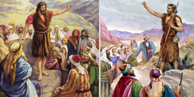 Иоанн креститель учит народ добру