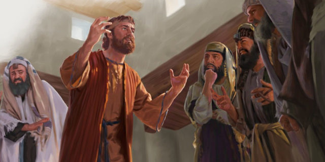 Исцелённый расслабленный объявляет иудеям что его исцелил Иисус Христос евангелие новый завет библия