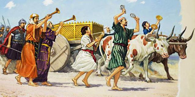 Ковчег Бога Израилева едет на коровах царства ветхий завет Библия 2