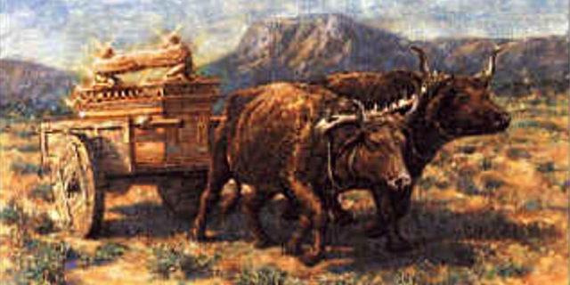 Ковчег Бога Израилева едет на коровах царства ветхий завет Библия