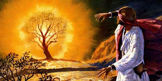 Моисей и Бог в терновом кусте при купине исход ветхий завет библия