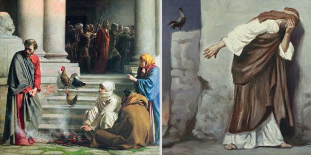 Отречение Петра от Иисуса Христа евангелие новый завет библия