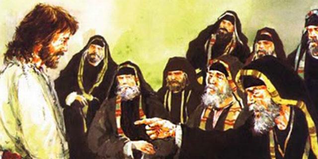 Первосвященники судят Иисуса Христа за богохульство 1