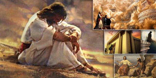 Пост Иисуса Христа в пустыне во время искушения от дьявола