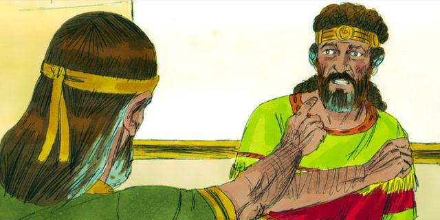 Пророк Нафан обличает царя Давида в нрехе убийства Урии мужа Вирсавии царства ветхий завет Библия 3