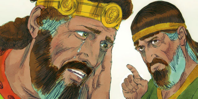 Пророк Нафан обличает царя Давида в нрехе убийства Урии мужа Вирсавии царства ветхий завет Библия 4