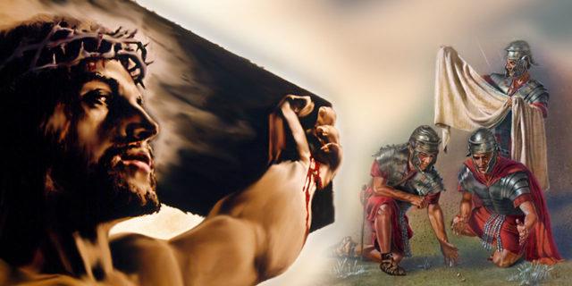 Распятие Иисуса Христа и делили одежды бросая жребий евангелие новый завет библия