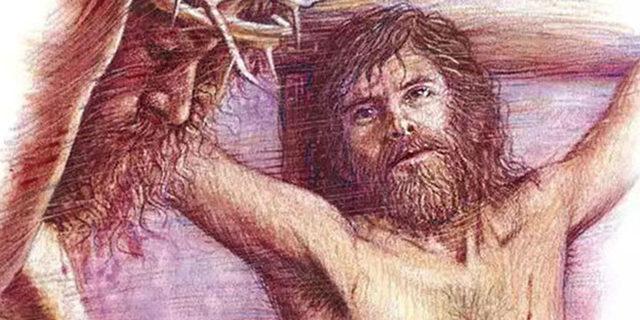 Разбойник просит Иисуса Христа помянуть его в царстве своем евангелие новый завет библия