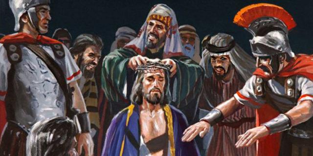 Римские войны издеваются над Иисусом Христом