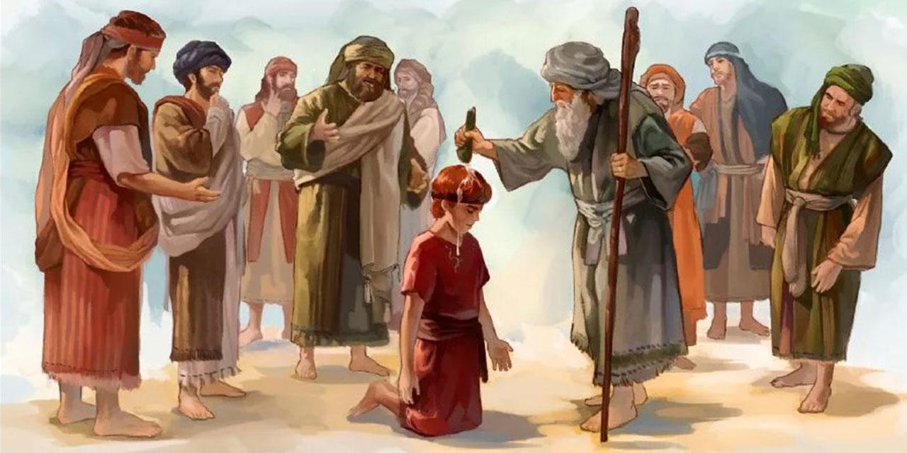 Самуил помазывает царя Давида царства ветхий завет Библия