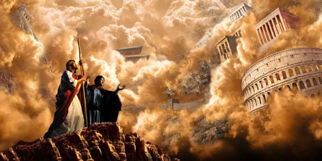 Сатана искушает Иисуса Христа в пустыне всеми царствами земли