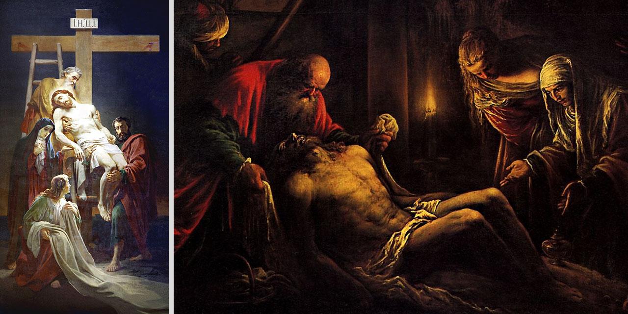 Смерть и снятие Иисуса Христа с креста евангелие новый завет библия