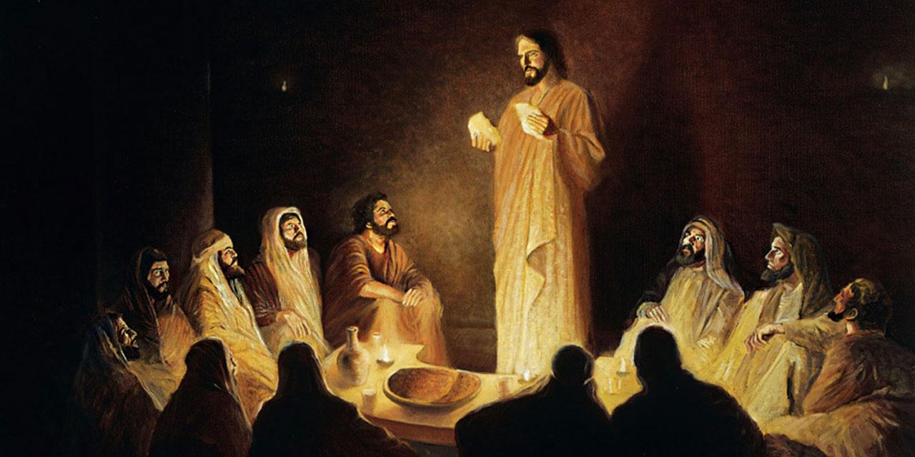 Тайная вечеря Иисуса Христа с учениками 1