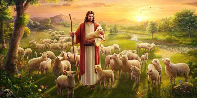 Иисус Христос добрый пастырь евангелие новый завет библия псалом 22