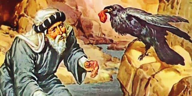 Пророк Илия питается от ворона мясом и хлебом царств ветхий завет библия