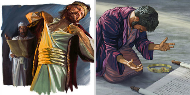Царь Езекия молится в храме царства ветхий завет Библия
