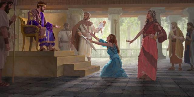 Царь Соломон и две женщины с ребенком царства ветхий завет Библия 2