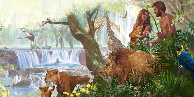 Люди и животные в эдемском саду рая ветхий завет Библия 2