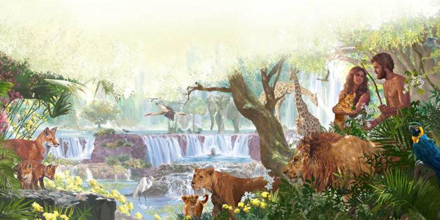 Люди и животные в эдемском саду рая ветхий завет Библия