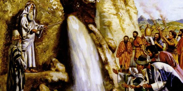 Моисей даёт воду из скалы Меривы второзаконие ветхий завет библия
